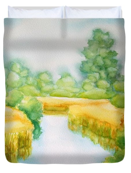 Summer Marsh Duvet Cover
