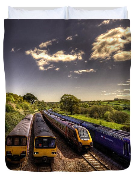 Summer Saturday At Aller Junction Duvet Cover by Rob Hawkins