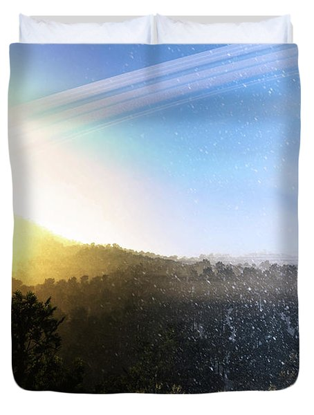Summer Turns To Winter On A Ringed Duvet Cover