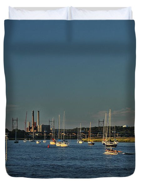 Summers Canal Duvet Cover by Karol Livote
