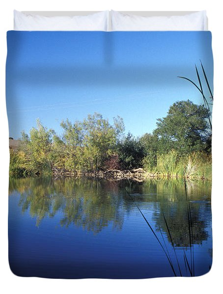 Summertime Reflections Duvet Cover by Kathy Yates