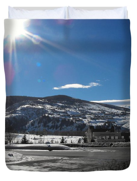 Sun On Ice Duvet Cover