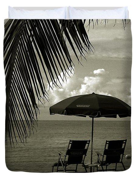 Sunday Morning In Key West Duvet Cover by Susanne Van Hulst
