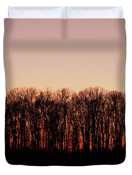 Duvet Cover featuring the photograph Sundown In Silhouette by Rachel Cohen