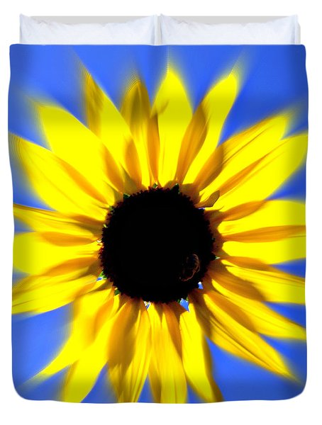 Sunflower Burst Duvet Cover by Marty Koch