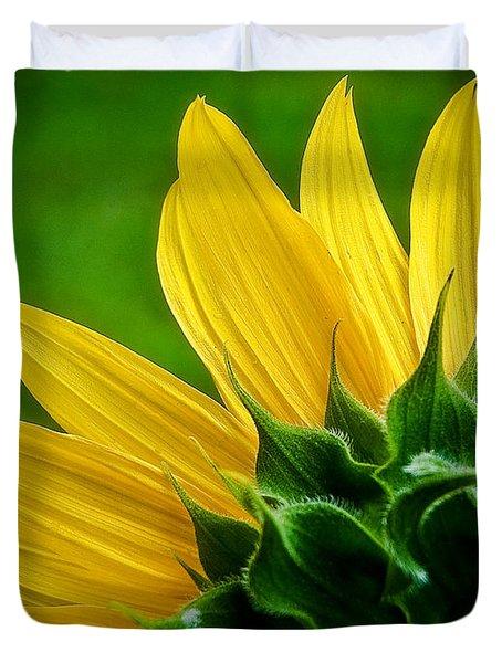 Sunflower Duvet Cover by Larry Carr