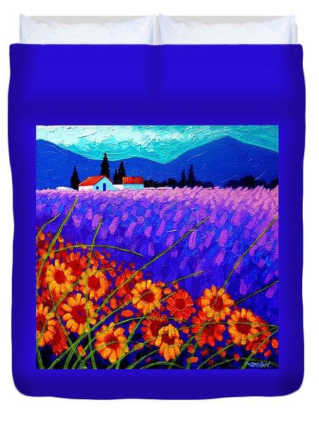 Sunflower Vista Duvet Cover by John  Nolan