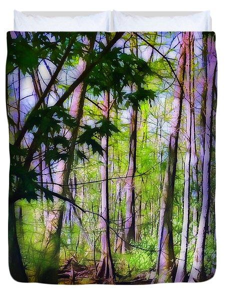 Sunlight In The Swamp Duvet Cover by Judi Bagwell