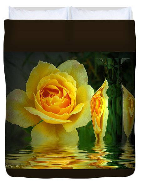 Sunny Delight And Vase 2 Duvet Cover by Joyce Dickens