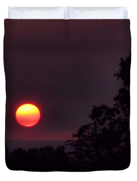 Sunrise  09 25 12 Duvet Cover by Joyce Dickens