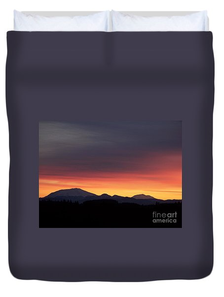 Duvet Cover featuring the photograph Sunrise 3 by Chalet Roome-Rigdon