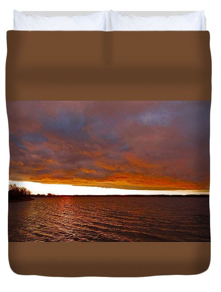 Sunrise At Ile-bizard ...  Duvet Cover by Juergen Weiss