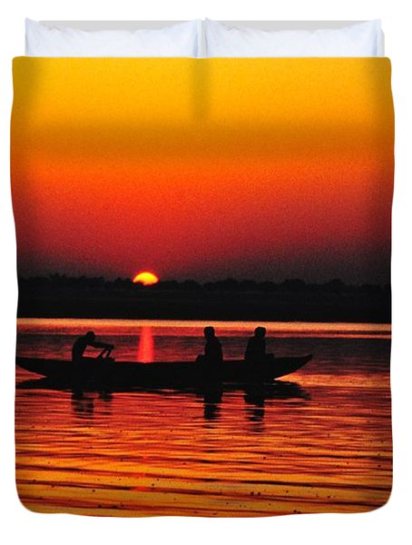 Sunrise At Indian Sea  Duvet Cover