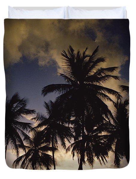 Sunrise At La Sagesse Bay Over Marquis Duvet Cover by Gerry Ellis