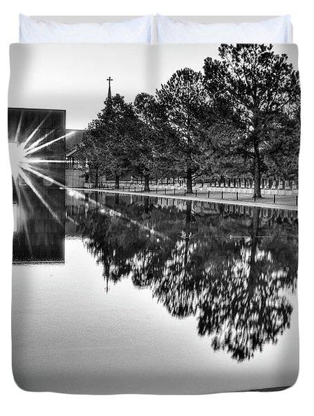 Sunrise At The Alfred P Murrah Memorial Duvet Cover by Tamyra Ayles