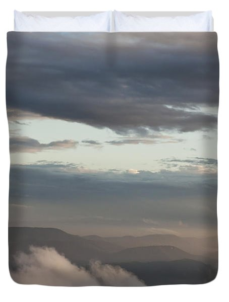 Sunrise In The Mountains Duvet Cover by Jeannette Hunt