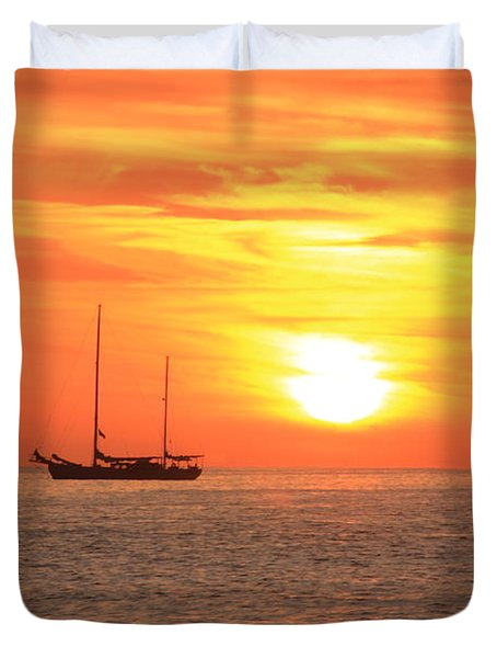 Sunrise On The Sea Of Cortez Duvet Cover by Roupen  Baker