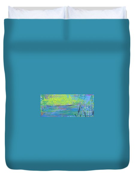 Sunrise Sunset 4 Duvet Cover by Jacqueline Athmann