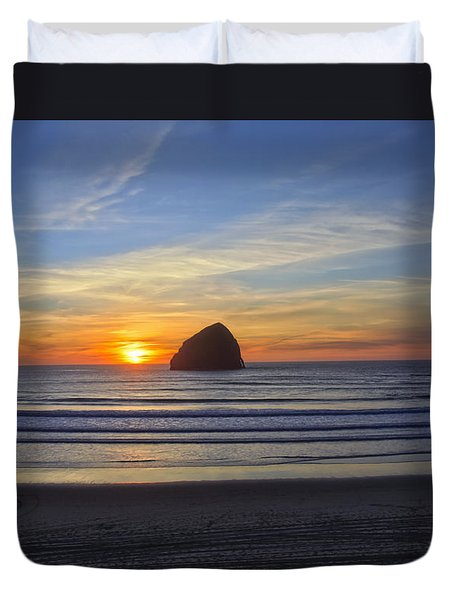Sunset At Cape Kiwanda Oregon Duvet Cover