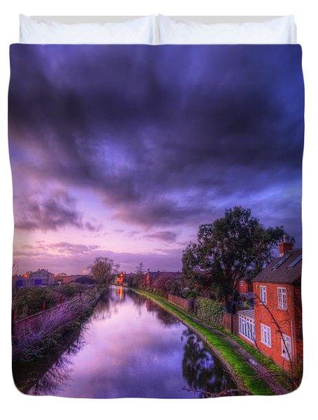 Sunset At Loughborough Duvet Cover by Yhun Suarez