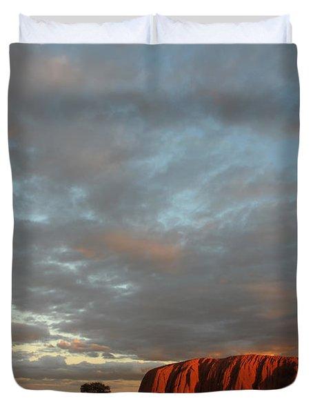 Sunset At Uluru Duvet Cover by Vivian Christopher