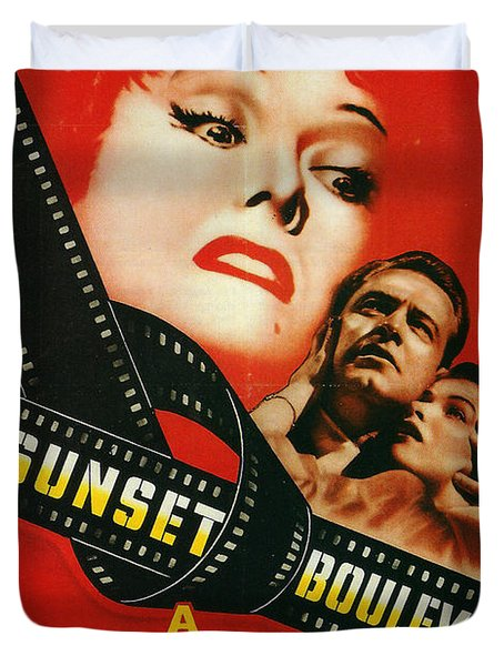 Sunset Boulevard Duvet Cover by Georgia Fowler