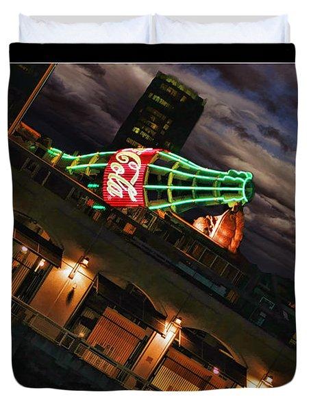 Sunset Coke Bottle Duvet Cover by Blake Richards