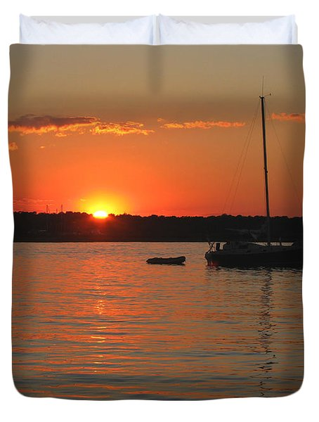 Duvet Cover featuring the photograph Sunset Cove by Clara Sue Beym