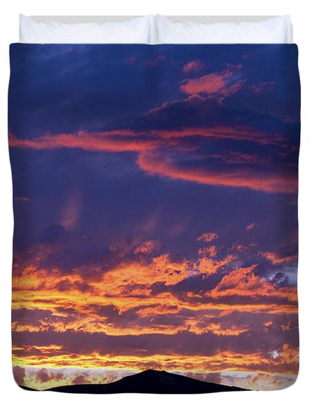 Sunset Duvet Cover by David R Frazier and Photo Researchers