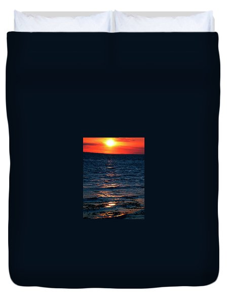 Duvet Cover featuring the photograph Sunset Denmark Samsoe Island by Colette V Hera  Guggenheim
