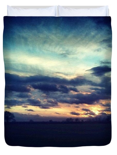 Sunset Drama Duvet Cover