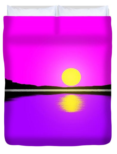 Sunset Duvet Cover by George Pedro