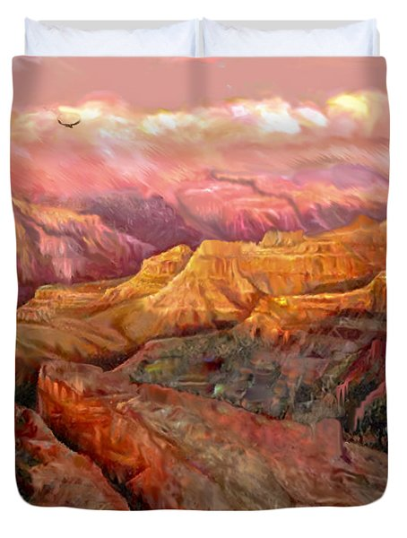 Sunset Grand Canyon Duvet Cover