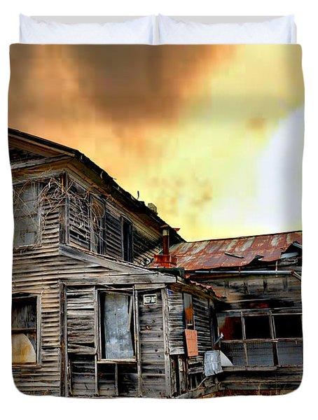 Sunset Homestead Duvet Cover by Marty Koch