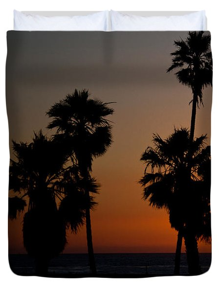 sunset in Califiornia Duvet Cover by Ralf Kaiser