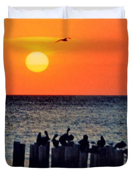 Duvet Cover featuring the photograph Sunset In Florida by Lydia Holly