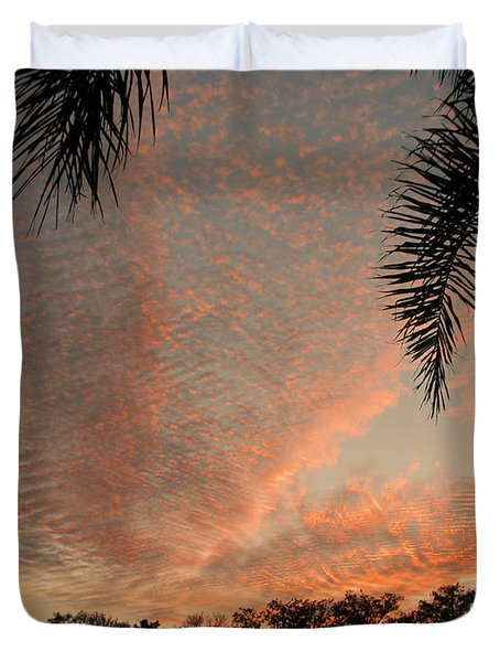 Sunset In Lace Duvet Cover