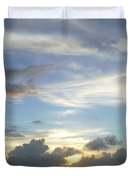 Duvet Cover featuring the photograph Sunset In Majuro by Andrea Anderegg
