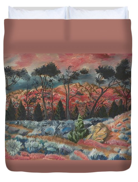 Sunset In The Cheatgrass Duvet Cover