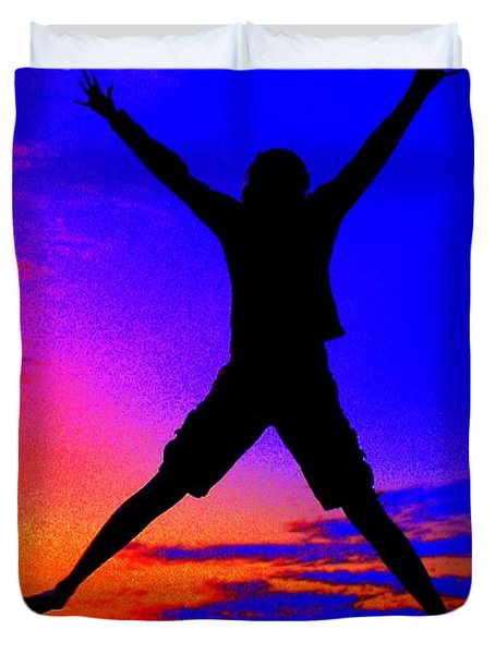 Duvet Cover featuring the photograph Sunset Jubilation by Patrick Witz