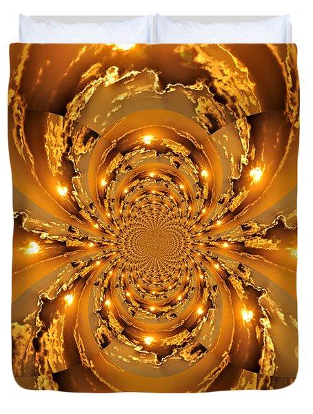 Sunset Kaleidoscope 4 Duvet Cover by Marty Koch