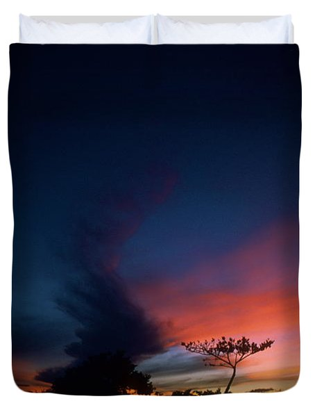 Sunset Leeward Oahu Duvet Cover