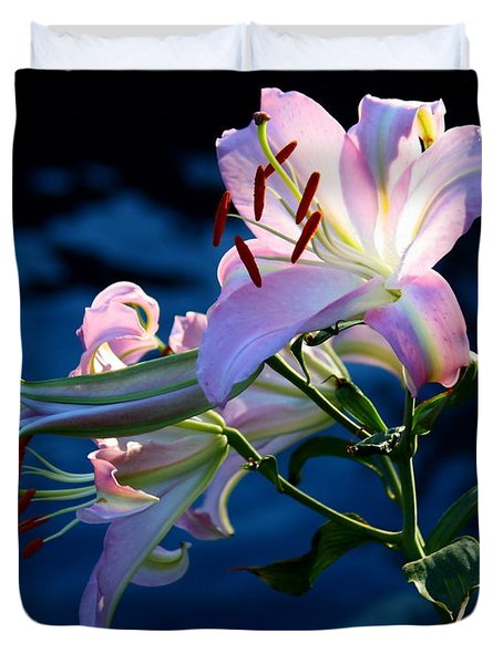 Duvet Cover featuring the photograph Sunset Lily by Patrick Witz