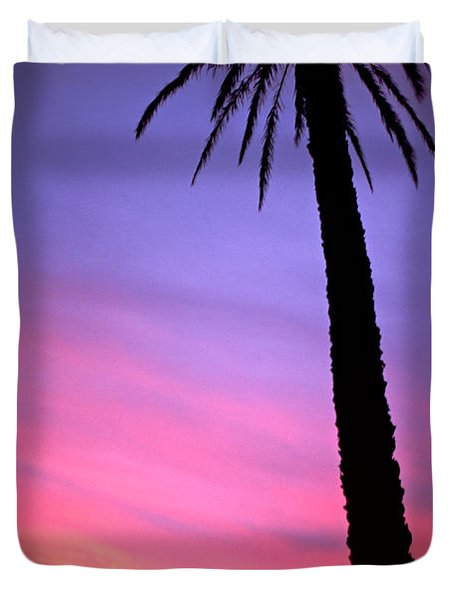 Duvet Cover featuring the photograph Sunset by Luciano Mortula
