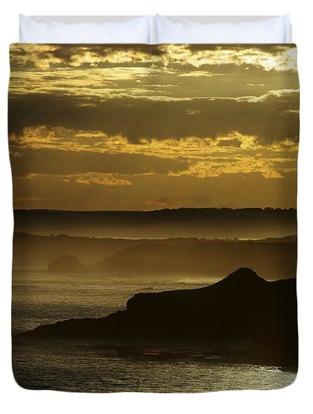 Duvet Cover featuring the photograph Sunset Mist by Blair Stuart