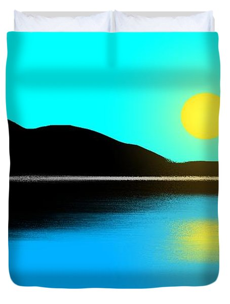 Sunset No. 2 Duvet Cover by George Pedro