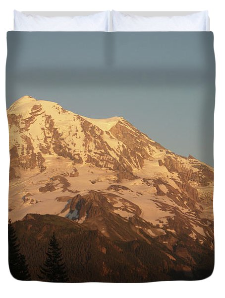 Sunset On The Mountain Duvet Cover