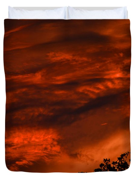 Duvet Cover featuring the photograph Sunset Over Altoona by DigiArt Diaries by Vicky B Fuller