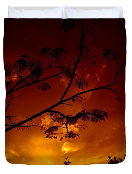 Sunset Over Florida Duvet Cover