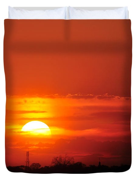 Sunset Over Washington Dc Duvet Cover